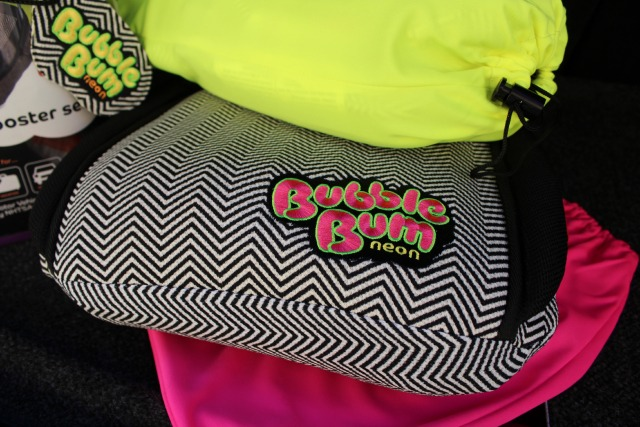 Bubble Bum Booster Seats Neon Chevron Print