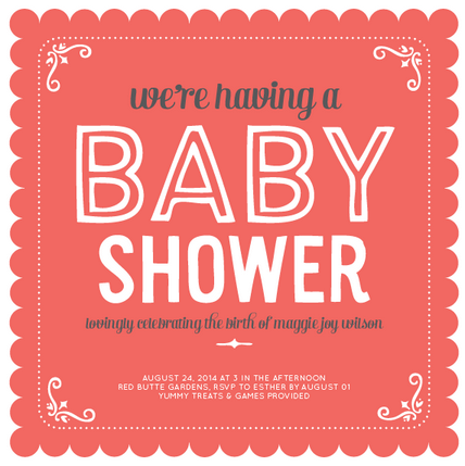 Girl Baby Shower Invitations Basic Invite