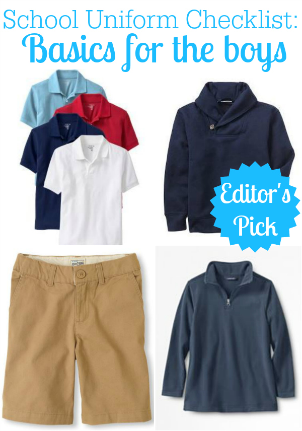 School Uniform Checklist for Boys