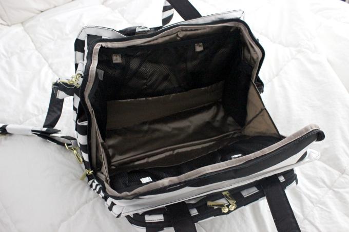 diaper bag inside