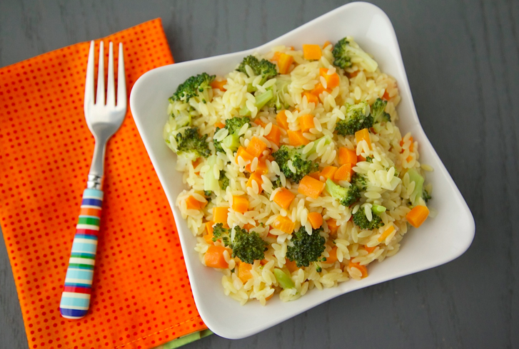 Carrot Broccoli Arroz