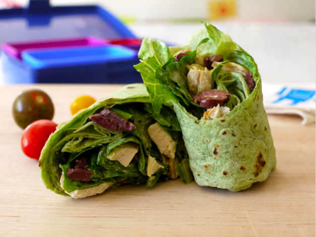 Chicken Ceaser Wrap by Weelicious