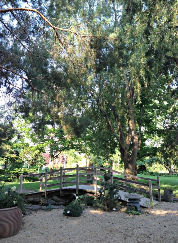 A bridge in the Meditation Garden, Idaho Botanical Garden