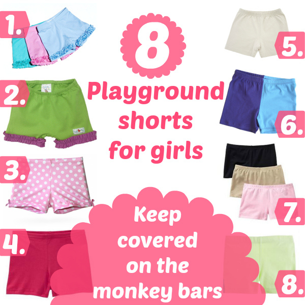 Playground Shorts for Girls