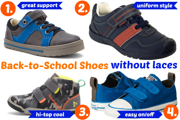 Shoes without laces for boys