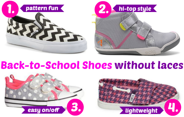 Shoes without laces for girls