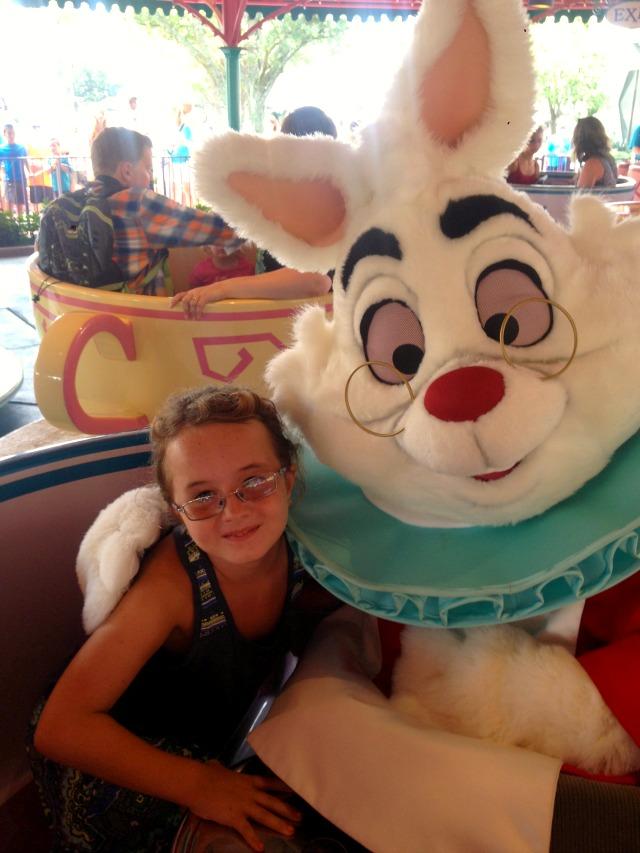 Tea Cups Disney World with The White Rabbit