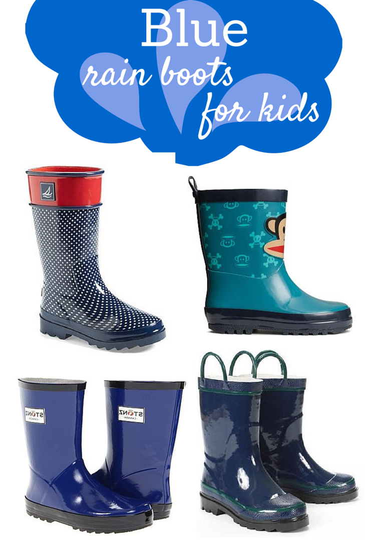 Blue Rain Boots for Kids