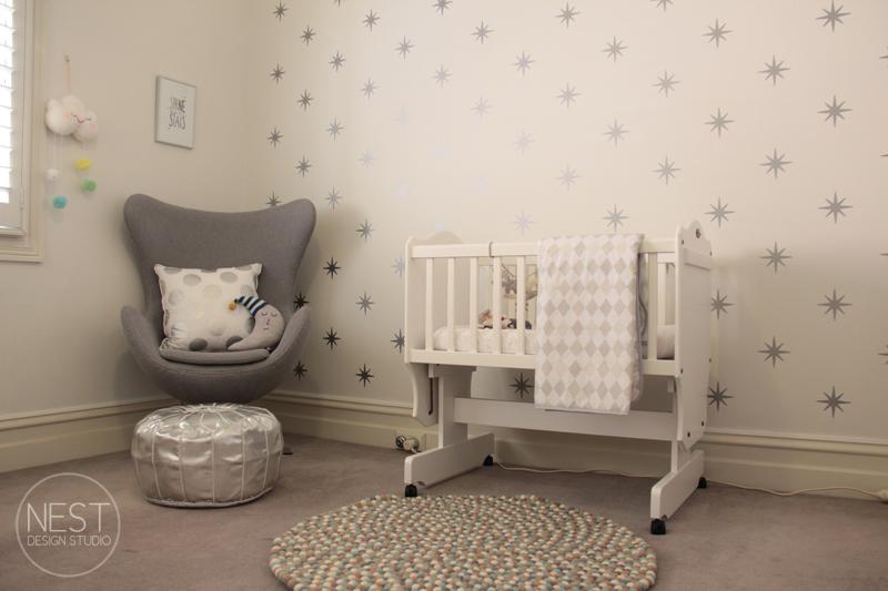silver nursery decor