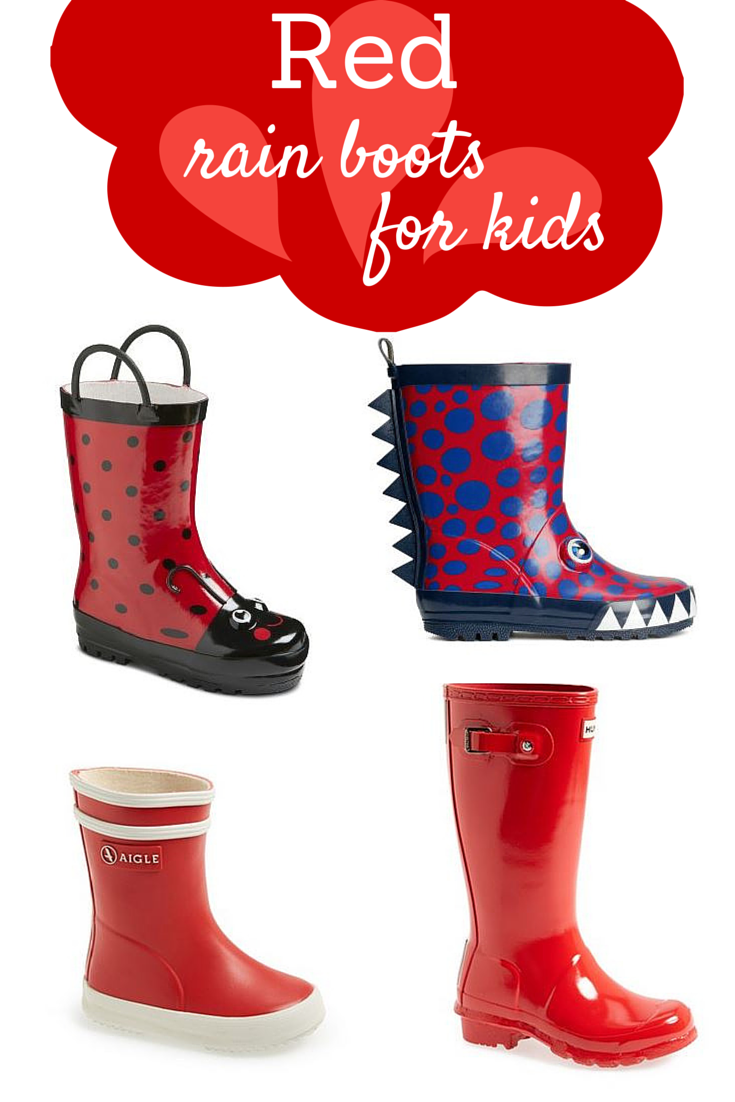 A rainbow of rain boots for kids - Savvy Sassy Moms