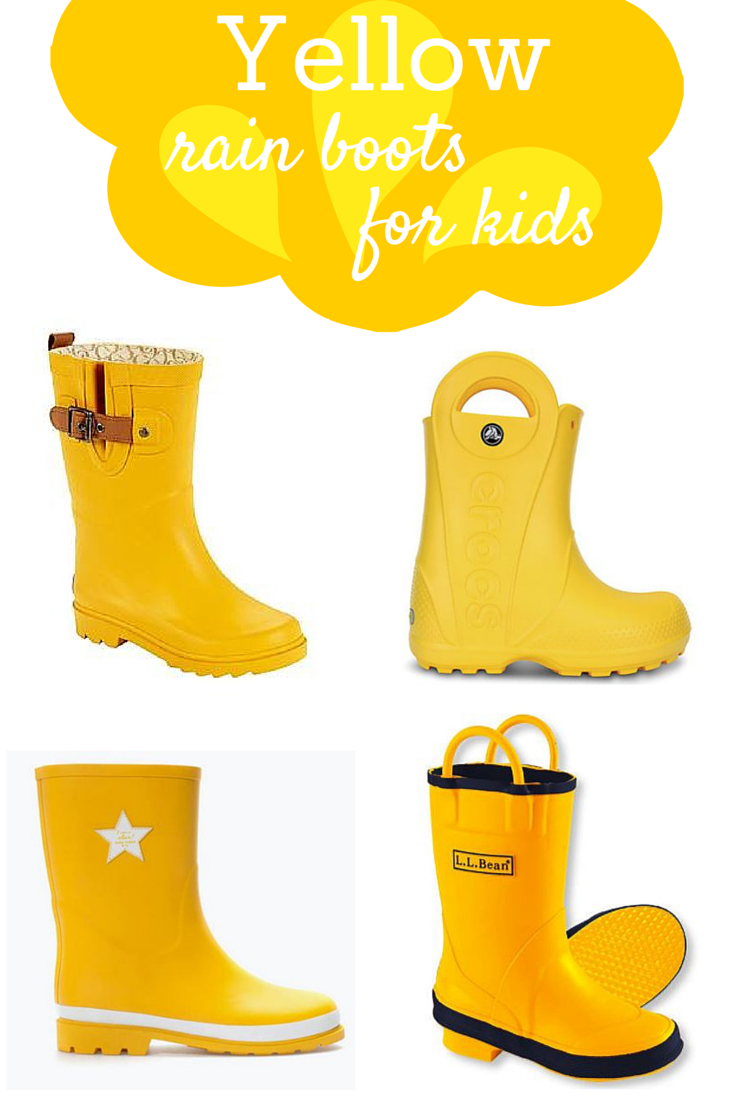 Yellow Rain Boots for Kids