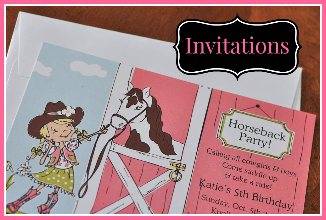 Girl Horse Themed Birthday Party