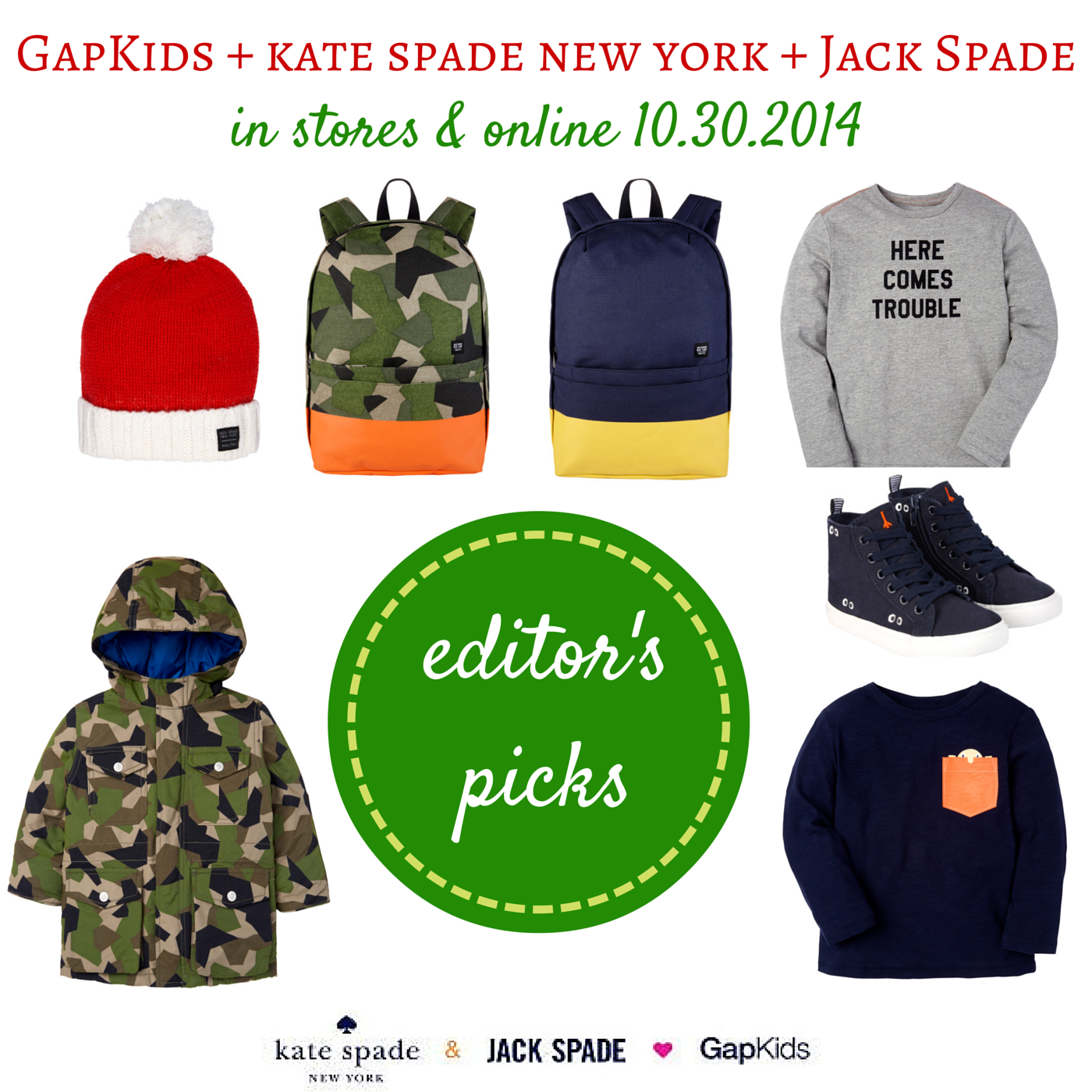 GapKids and kate spade new york