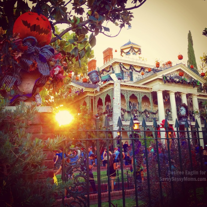 Haunted Mansion at Disneyland during Halloween