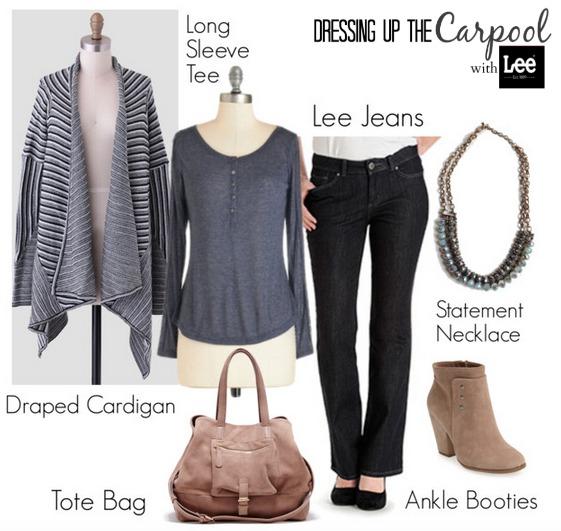 Dressing up the Carpool Lee Jeans Cardigan