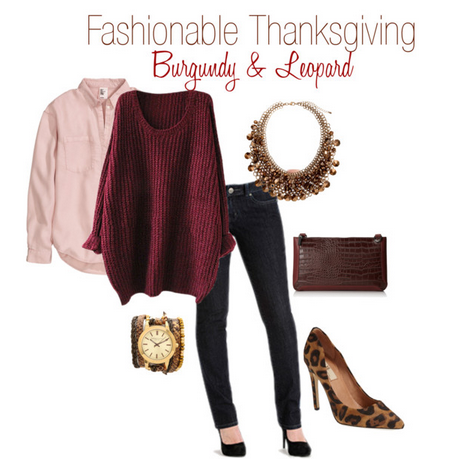 Fashionable Thanksgiving Burgundy and Leopard Fashion