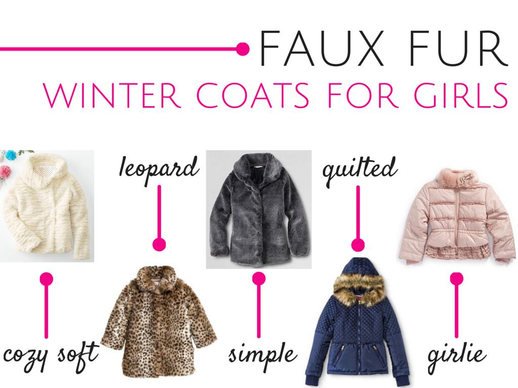 Faux Fur Winter Coats for Girls