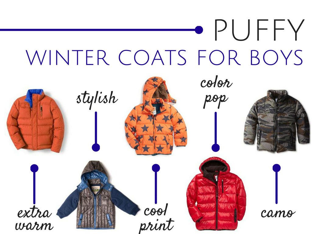 Puffy Winter Coats for Boys