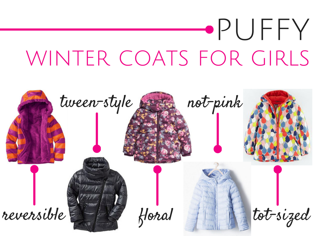 Puffy Winter Coats for Girls