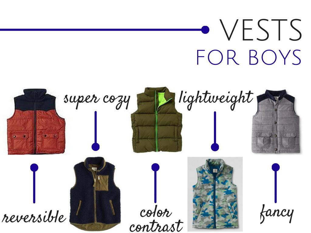 Winter vests for boys