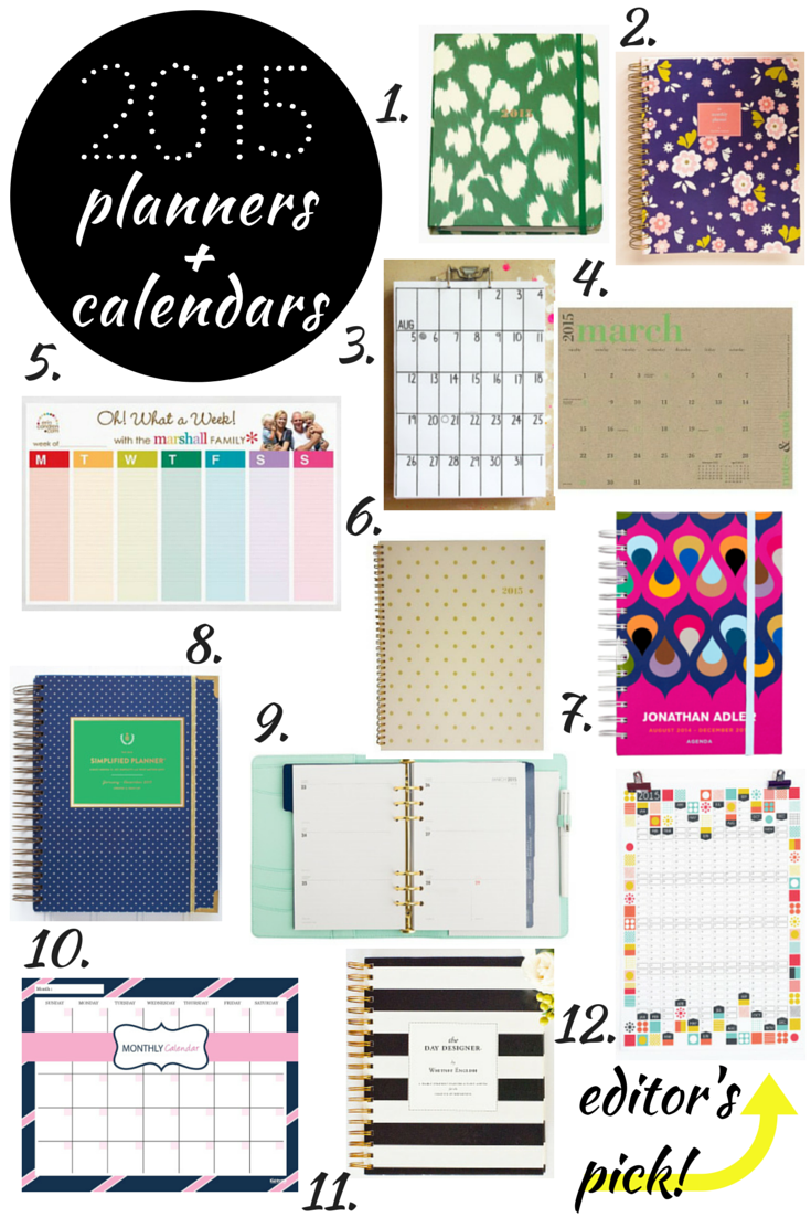 12 best 2015 planners and calendars