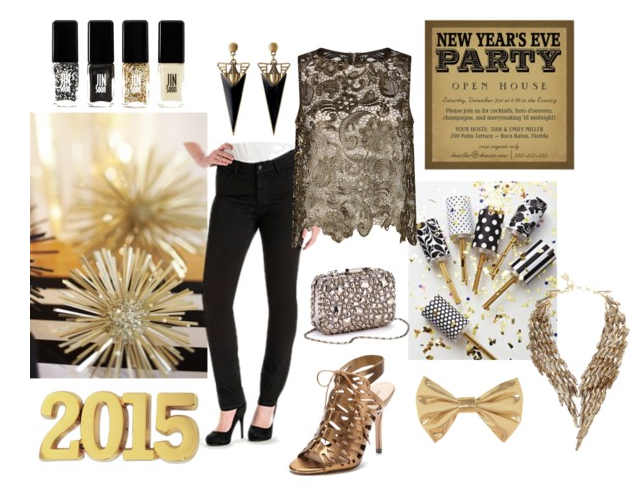 New Years Eve Style Gold Lee Jeans