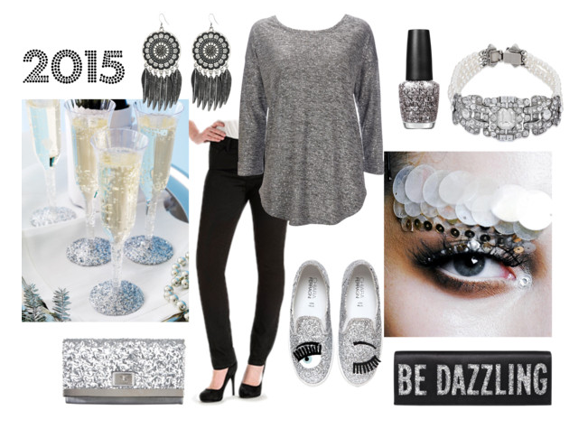 New Years Eve Style Silver Lee Jeans