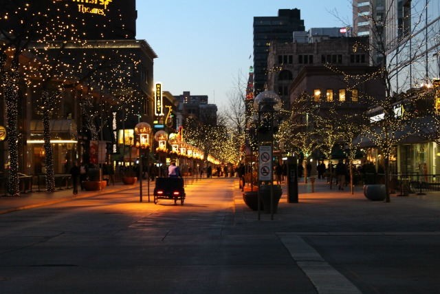 16th Street Mall Denver Colorado at Chirstmas Time