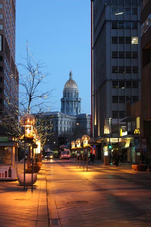 Denver Capital Building at Night