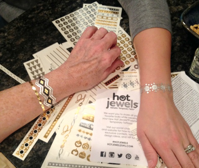 Hot Jewels Metallic Temporary Tattoos