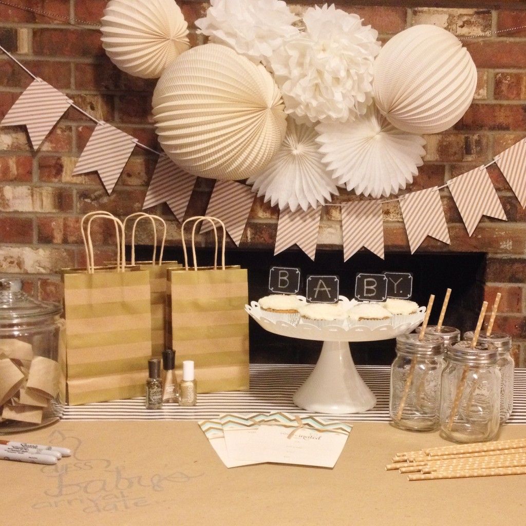 Baby Shower Themes At Target ~ Gold baby shower ideas from target giveaway savvy