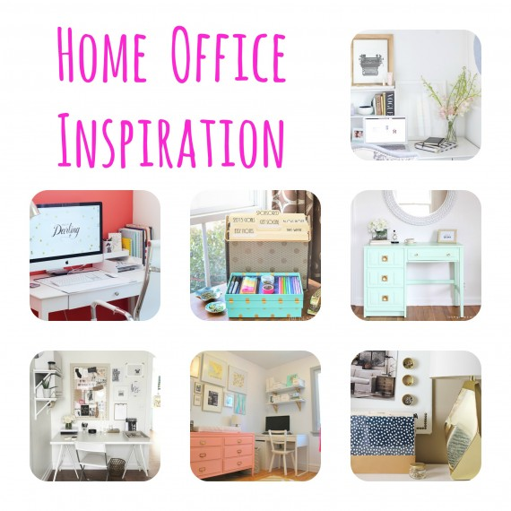 Chic home office inspiration savvy sassy moms for Home office inspiration pictures