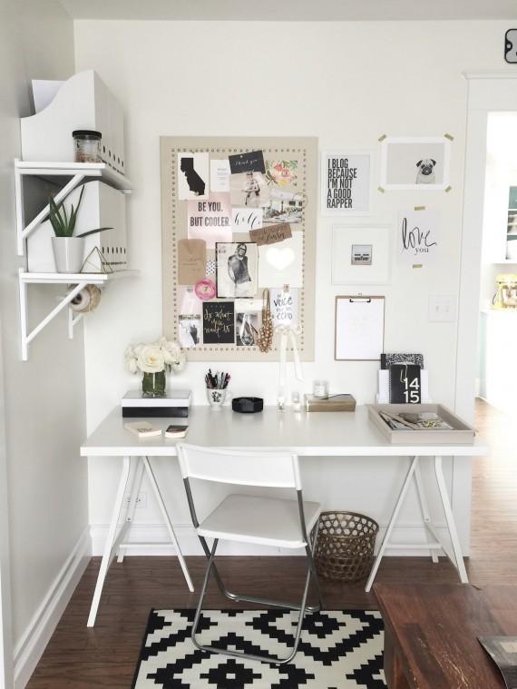 Chic home office inspiration Savvy Sassy Moms