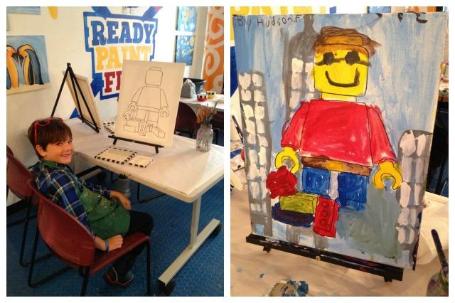 Hudson LEGO painting at Ready Paint Fire Keystone