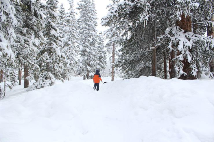 Keystone Colorado Top of Mountain Snow Fort