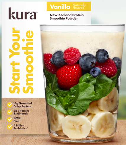 Kura protein powder for smoothies