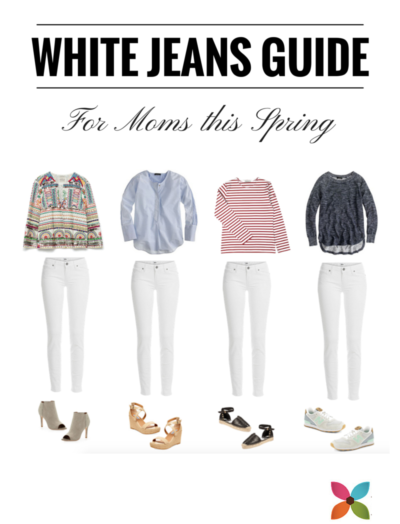 White Jeans Guide for Moms this Spring