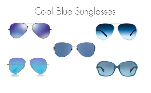Cool Blue Sunglasses Trends Celebrity Style