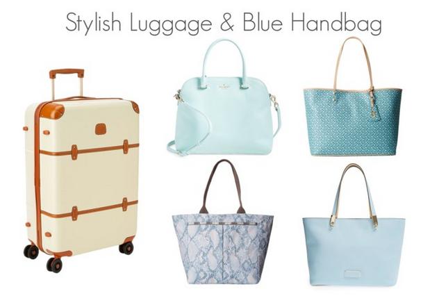 Stylish Luggage and Blue Handbags Travel Style