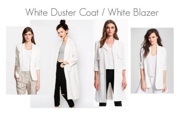 White Duster Coat White Blazers Jessica Alba Style
