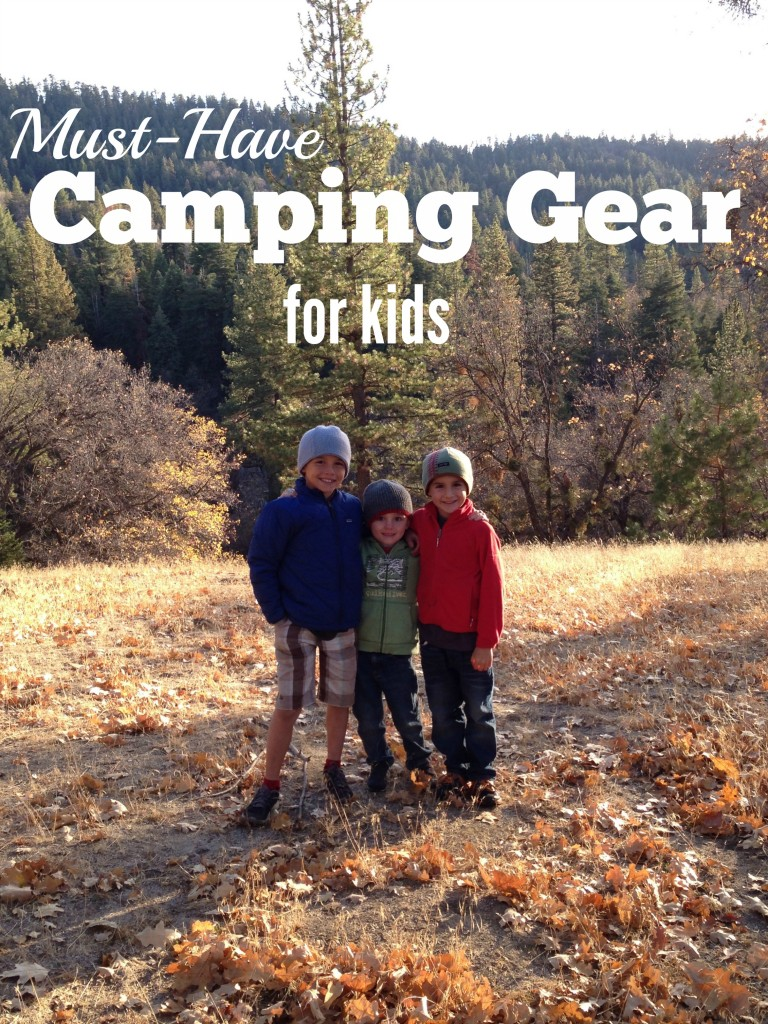 Must Have Camping Gear for Kids