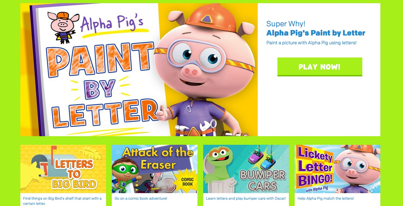 Websites for Preschoolers: PBS Kids