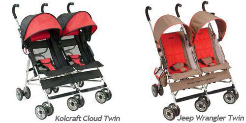 Jeep Wrangler Twin Stroller is now the Kolcraft Cloud Twin