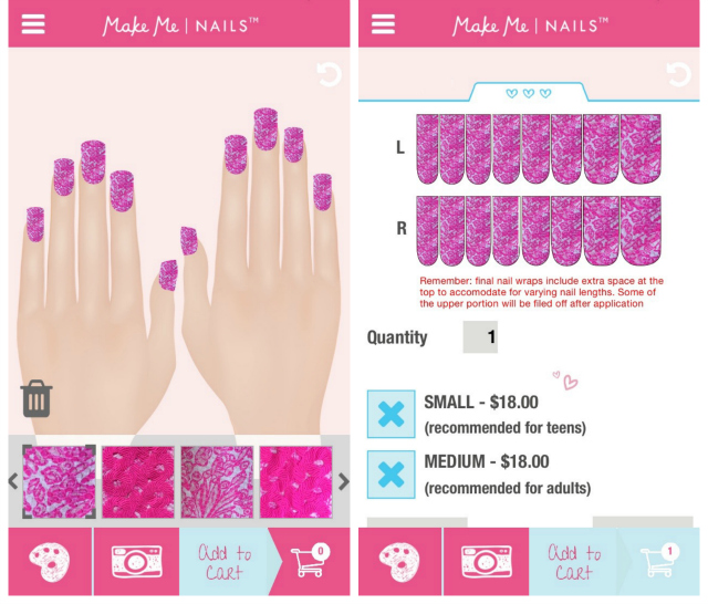 How to use the Make Me Nails App