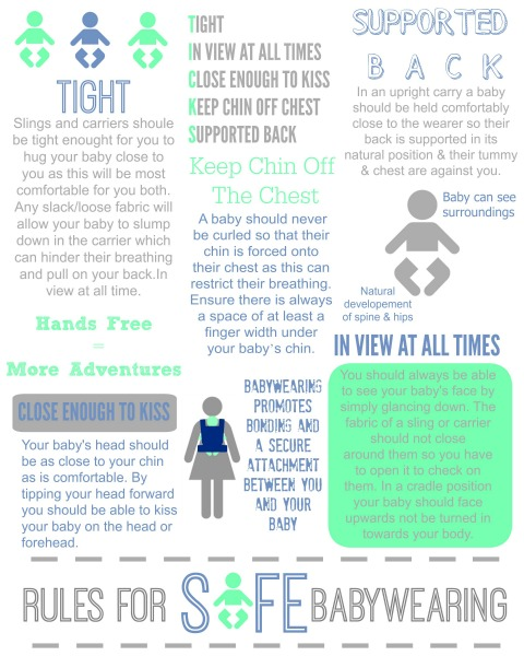 TICKS Babywearing Safety Infograph // Savvy Sassy Moms