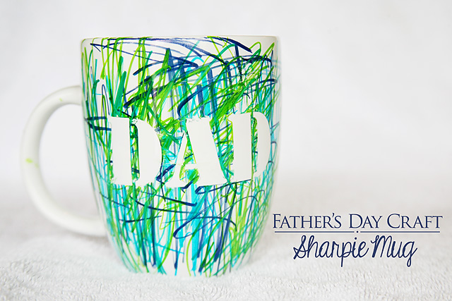 DIY Father's Day Sharpie Mug