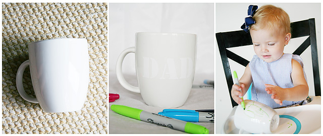 DIY Sharpie Mugs from the Dollar Store
