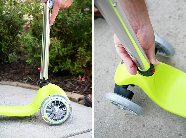 The Globber Scooter is easy to assemble