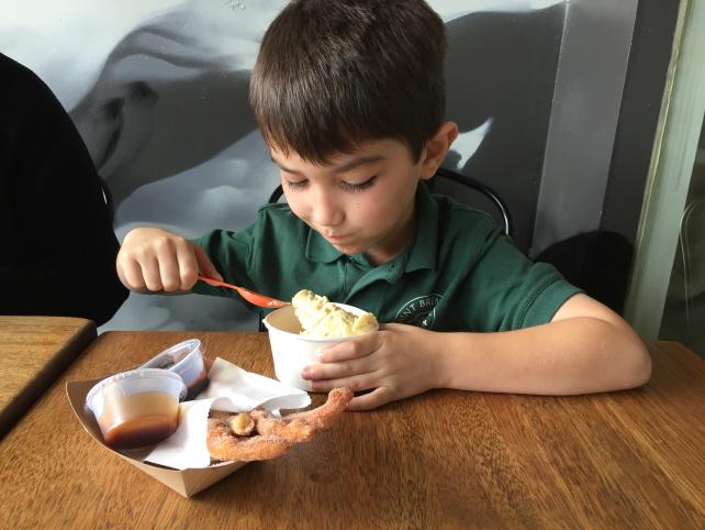 10 Places to take kids in LA: Churro Borough Ice Cream Parlor