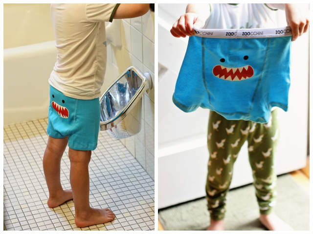 Potty Training Essentials for Boys featuring Zoocchini Boxers and WeePot Urinal